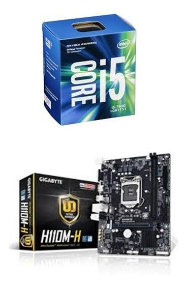 Kit Core I5 7400 + H110 Gigabyte