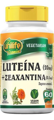 Luteína E Zeaxantina 60 Cápsulas 400mg Ótimo Unilife