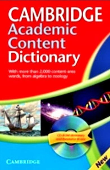 Cambridge Academic Content Dictionary - Book With Cd-rom - C