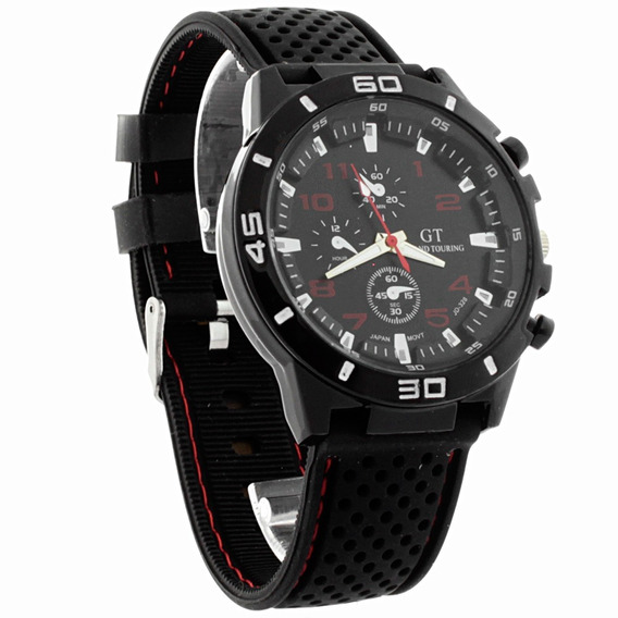Reloj Hombre Gt Reloj Deportivo Caballero Correa Silicon - Color Negro