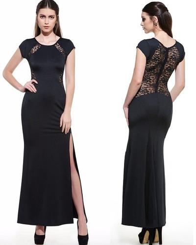 Vestido Largo Con Encaje Talla M Nuevo Importado Stock