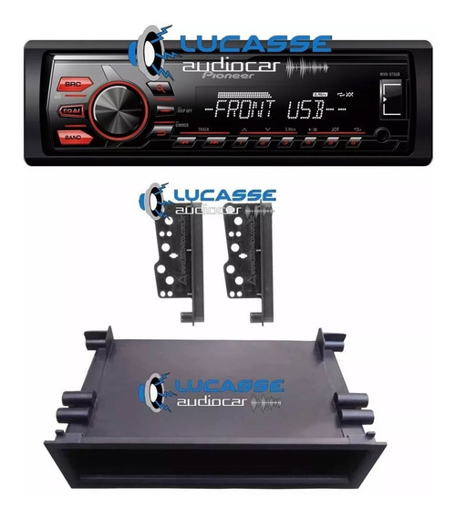 Stereo Pioneer Usb Blueooth + Marco Toyota Corolla Hilux