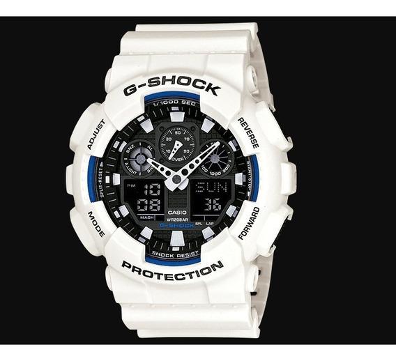 Relógio G-shock Branco Ga-100b-7adr Original E Garantia - Nf
