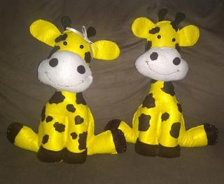 Casal De Girafas De Feltro Para Decoração - 20 Cm