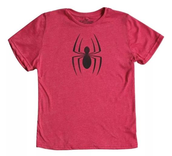 Playera Mascara De Latex Niño Spider-man Logo ¡envio Gratis!