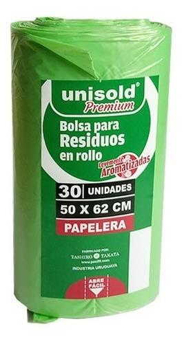 Bolsas Negras Y Verdes En Rollo De 30 Unidades (50 X 62 Cm)