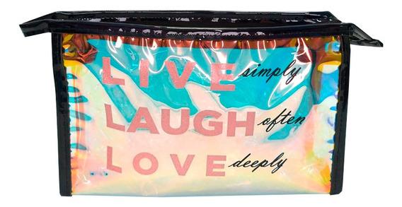 Necessaire Live, Laugh And Love Preto