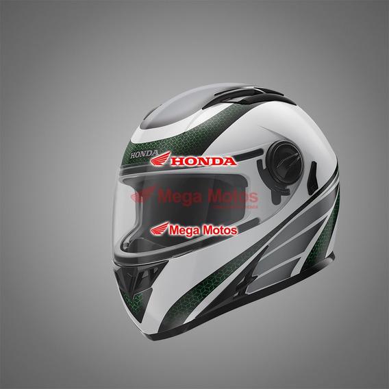 Capacete Hf2 Honda Branco/verde