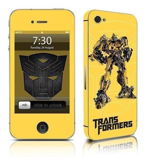 Adesivo Para Celular Bumblebee Transformers - Para iPhone 4