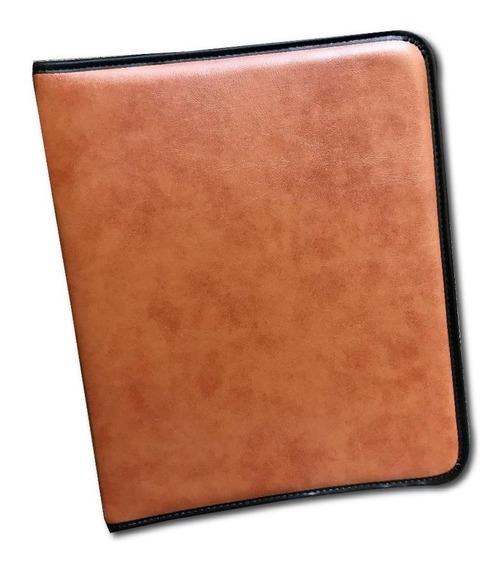 Carpeta Oficio Simil Cuero C/cierre Negro O Color 5601
