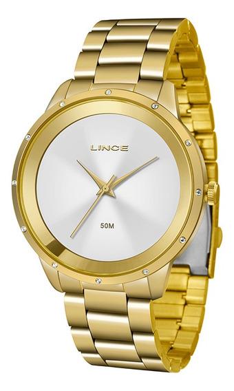 Relógio Feminino Lince Pulseira Aço Inox 50m Lrg619l-s1kx