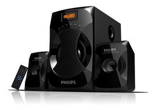 Parlante Philips Multimedia 2.1 Mms4040f Fm 40w Usb Aux
