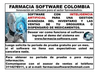Software Avanzado Para Gestion De Farmacias Y Droguerias