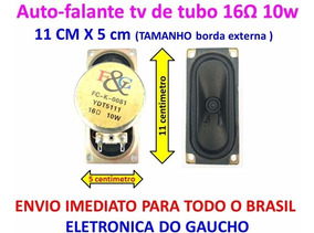 Kit 2x Alto Falante 16r 11cm X 5cm P/ Varias Marcas Tv Tubo