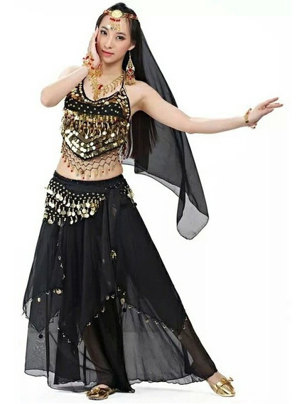 Roupa Para Dança Do Ventre Indiana Completa