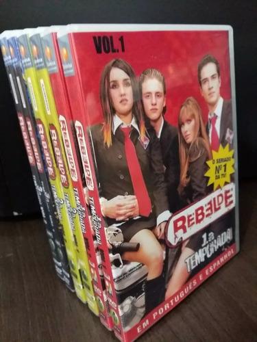 Box Novela Rbd 1ª, 2ª E 3ª Temporada Rebelde - Frete Grátis