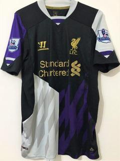Camisa Do Liverpool 2013/14 Autografada Luis Suarez