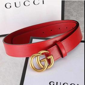 fe63a4170b Cinto Gucci Double G Red 100% Couro Original Feito Na Itália