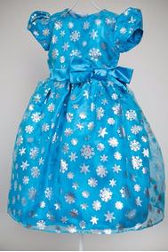 Vestido Infantil De Festa Frozen Pequena Princesa