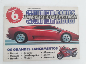 Álbum Livro Ilustrado Super Carros Com Poster Para Sua Coleç