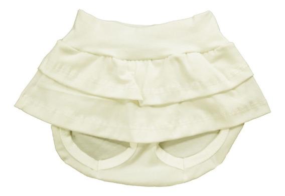 Saia Shorts De Bebê Azul Marinho 100% Algodão Toque Macio