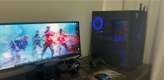 Pc Gamer Completo - Ryzen 1600 Gtx 1060 16 Gb Ram, Lg 25