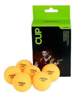 Seis Pelotas Ping Pong Tenis De Mesa Cup Stiga
