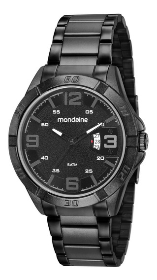 Relogio Masculino Mondaine Preto Premium Top Black Stile