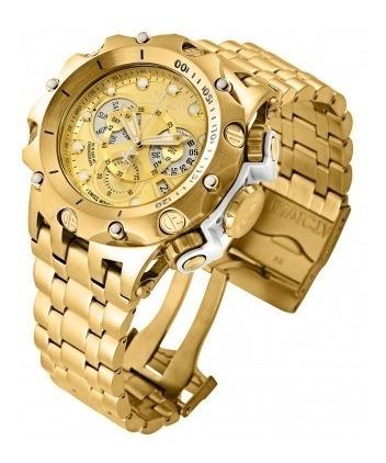 Relógio Invicta 27792 Dourado Ouro 18k Híbrido Swiss * Venom
