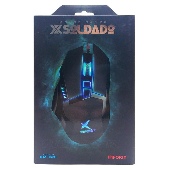 Mouse Gamer Soldado Infokit Gm601 2400 Dpis