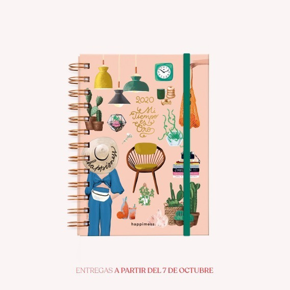 Agenda 2020 Happimess Mi Tiempo Es Oro - Pocket - Monoblock