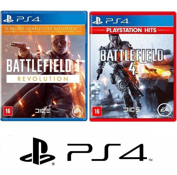 Battlefield 1 E 4 - Ptbr Midia Fisica Original Lacrado - Ps4