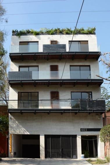 Narvarte, Lindo Depto Con Balcón Y Roof Garden Privado