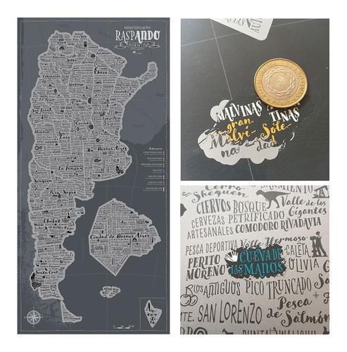 Mapa De Argentina Con Raspadita  Raspando