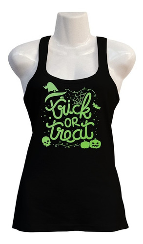 Polera Trick Or Treat - Halloween - Glow - Deportiva