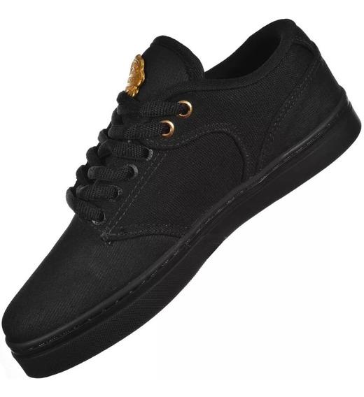 Tênis De Skate Hocks Montreal Black Gold Original + N F