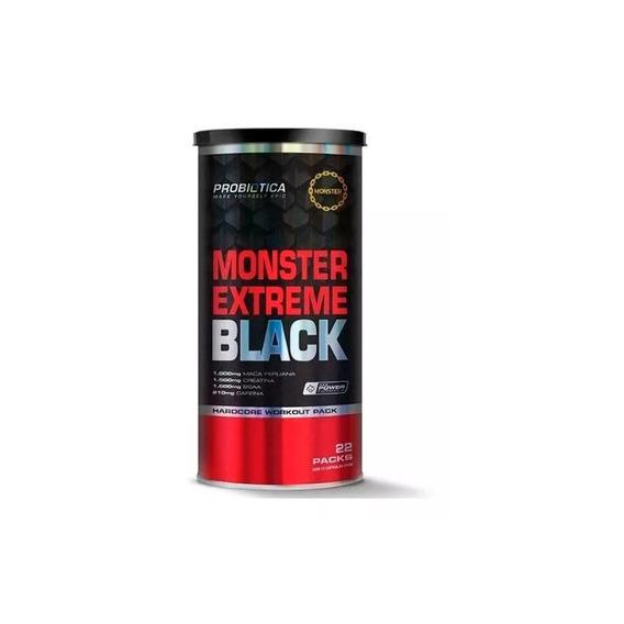 Pak Monster Extreme Black - 22 Packs - Probiótica + Nf