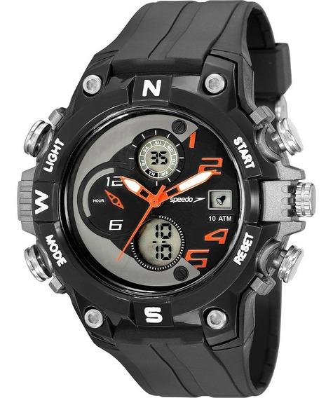 Relógio Speedo Masculino Digital Preto Prova D