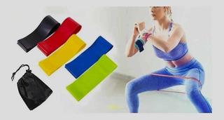 Kit 5 Faixas Elásticas Com 5 Níveis Exercícios Fisioterapia
