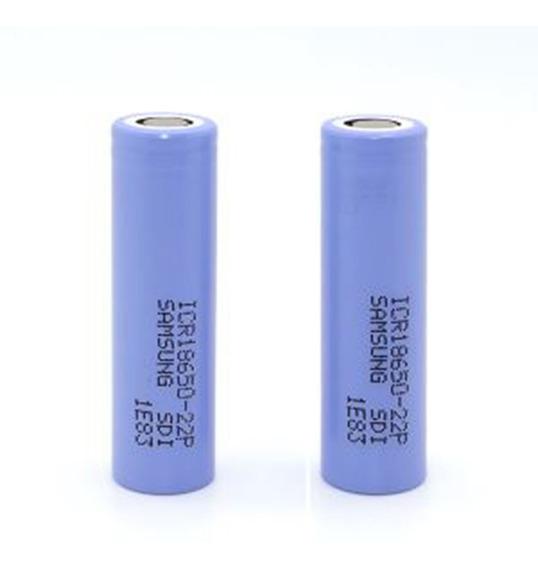 Bateria Samsung 22p 18650 Original 2200mah 3.7v Célula Kit 2