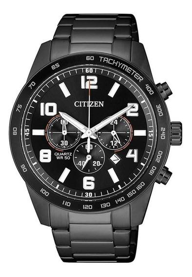 Relógio Citizen Masculino Preto Tz31454p Multi Função