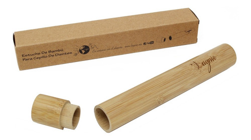 Lagnie Estuche Tubo Bambú Porta Cepillo Dientes Ecológico