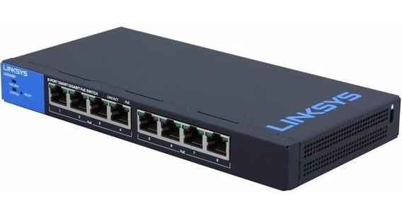 Switch Linksys Lgs308p Administrable Gigabit Poe+ 8 Puertos