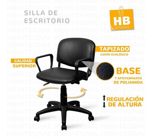 Imagen 1 de 3 de Silla De Escritorio Trabajo Pc Oficina Giratoria Cuero Calid