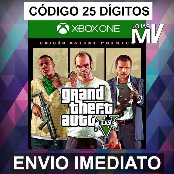 Gta V Edição Online Premium - Xbox One Código 25 Dígitos
