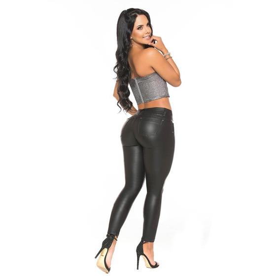 Jeans De Engomado Chupin Calce Perfecto Casi Bruja