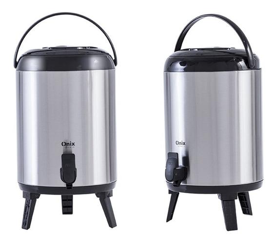 2 Botijão Térmico Inox 9,5 L Quente /frio C/torneira P/hotel