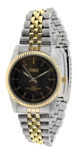 Reloj Hombre Sacks Sumergible, Ejecutivo, Metal Gold Mbml115