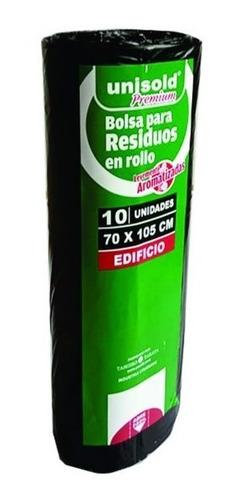 Bolsas Negras Y Verdes En Rollo 10 Unidades (70 X 105 Cm)