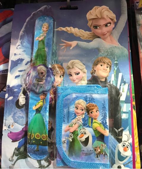 Relógio + Carteira Frozen Infantil Promoção